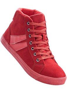 Высокие кеды (темно-красный) Bonprix