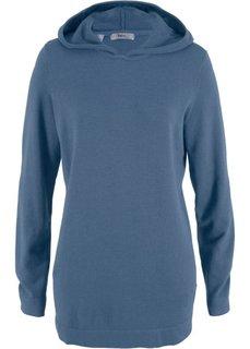 Пуловер с капюшоном (индиго) Bonprix