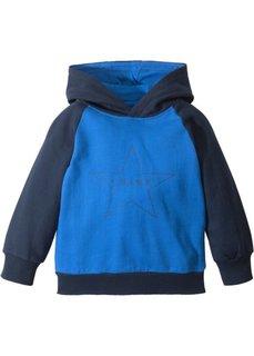 Свитшот с капюшоном (темно-синий/лазурный) Bonprix