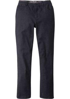 Зимние брюки-чиносы из фланелевого твила (черный/серый) Bonprix