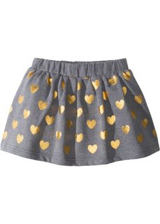 Трикотажная юбка с металлизированным принтом (серый меланж/золотистый) Bonprix
