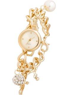 Наручные часы с подвесками (золотистый) Bonprix