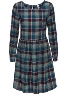Фланелевое платье (сине-зеленый/минерально-синий в клетку) Bonprix