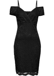 Кружевное платье (черный) Bonprix