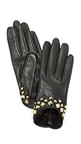 Agnelle Josie Stud Leather Gloves