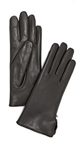 Agnelle Lapin Leather Fur Gloves