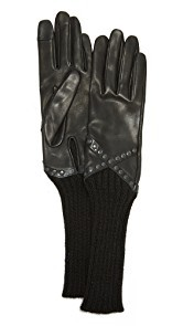 Agnelle Mitaine Leather Gloves