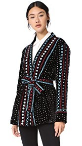 DODO BAR OR Siya Colorful Velvet Kimono