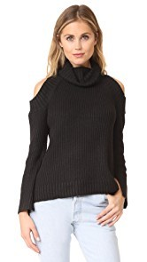 J.O.A. Cold Shoulder Turtleneck Sweater
