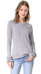 Lanston Ruffle Long Sleeve Tee