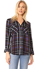 LAGENCE Denise Contrast Back Shirt