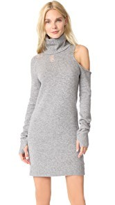Pam & Gela Turtleneck Cutout Sweater Dress