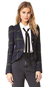 SMYTHE Pouf Sleeve One Button Blazer