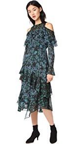 Tanya Taylor Floral Vines Althea Dress