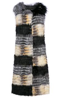 Комбинированный жилет из меха лисы и кролика Virtuale Fur Collection