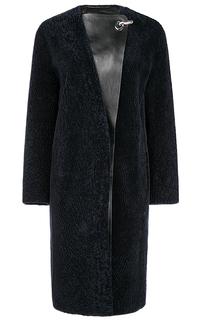 Пальто из овчины с кожаной отделкой Virtuale Fur Collection