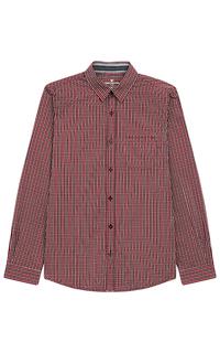 Красная рубашка Tom Tailor