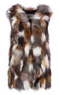 Жилет из двух видов меха лисы Virtuale Fur Collection
