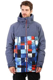 Куртка утепленная Quiksilver Sierra Blue Red Icey Check