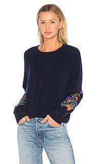 Укороченный пуловер с вышивкой - Autumn Cashmere