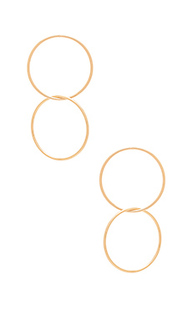 Двойные серьги-кольца - Ettika