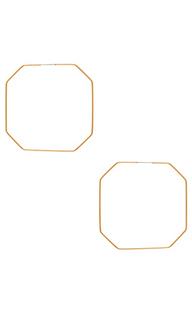 Серьги-кольца octagon - Ettika