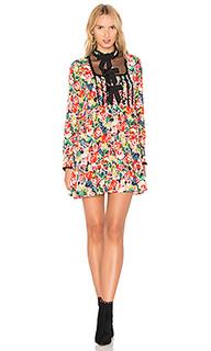 Свободное шелковое платье maple - Ganni