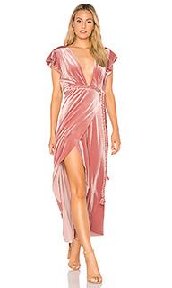 Платье с запахом carolina - MISA Los Angeles