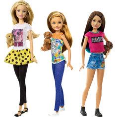 Куклы-сестры Barbie со щенками, Barbie, в ассортименте Mattel