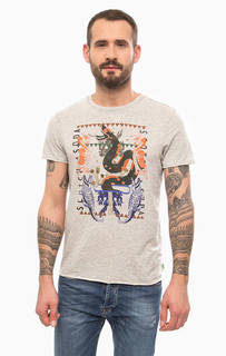 Серая футболка с короткими рукавами Scotch&Soda