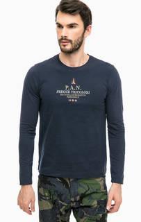 Хлопковая футболка с вышивкой Aeronautica Militare