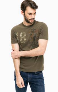 Хлопковая футболка с круглым вырезом Aeronautica Militare