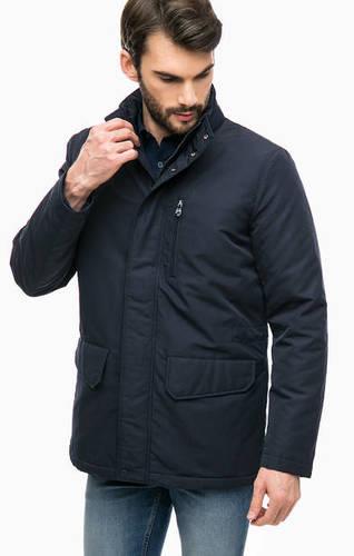 Синяя куртка со съемным капюшоном