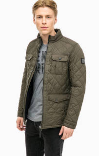 Стеганая куртка цвета хаки Tom Tailor