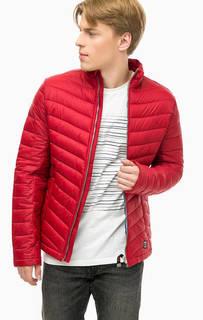 Красная куртка с воротником-стойкой Tom Tailor