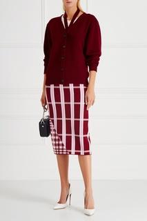 Шерстяная юбка Victoria Beckham