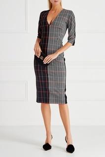 Платье в клетку Victoria Beckham