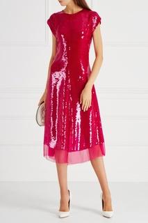 Шелковое платье с пайетками Stella Mc Cartney