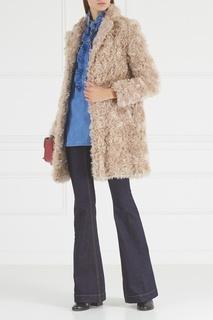 Меховое пальто из мохера и хлопка Stella Mc Cartney