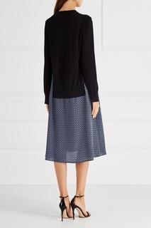 Платье из шерсти и шелка Stella Mc Cartney