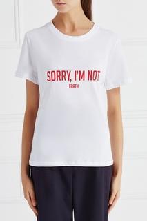 Хлопковая футболка Earth Sorry, im Not