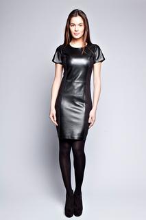 Кожаное платье Giorgio