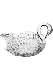 "Салатник ""Лебедь"", 33 см CRYSTAL BOHEMIA"