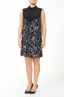Принтованное платье без рукавов Balenciaga