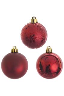 Шар новогодний, 3шт, 6 см Monte Christmas
