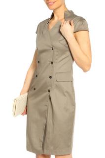 Платье на пуговицах с короткими рукавами LeVall