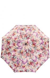 Складной зонт с цветочным принтом и декором на ручке Pasotti Ombrelli