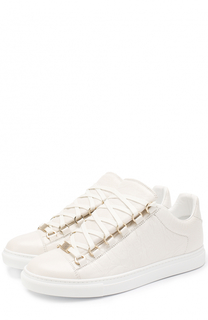 Кеды из фактурной кожи на шнуровке Balenciaga