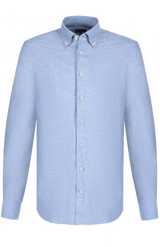 Хлопковая рубашка с воротником button down Baldessarini