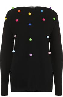 Кашемировый пуловер свободного кроя с круглым вырезом Pietro Brunelli